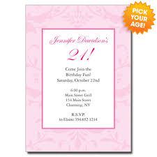 pretty in pink invitation