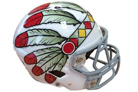 design your own football helmet logo indian headdresses oversized