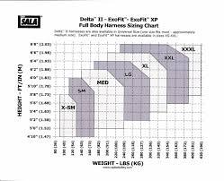 Dbi Sala Exofit Size Chart 3m Dbi Sala 1110300 Exofit Xp Tower Climbing Vest Style Full Body Harness