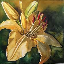 lily in yellow painting lily in yellow fine art print