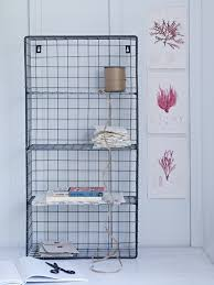 Wire Wall Rack - This four-shelf, boot room style wire unit gives your