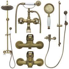 Details Zu Retro Duschset Regendusche Duschsystem Armatur Dusche Antik Nostalgie Handbrause
