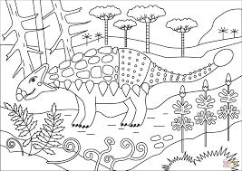 Ankylosaurus Dinosaurus Kleurplaat Gratis Kleurplaten Printen