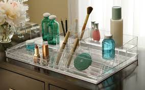 Bathroom Vanity Drawer Organizers Cosmetic Organizer Acrylic Makeup Tray  Vanities