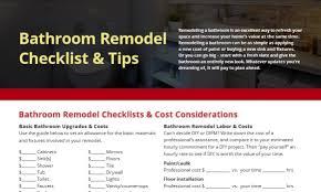 Bathroom Remodel Checklist Mr Handyman