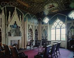 Interior of Gothic Revival Building shows Gothic elements in its 'pointy'  structures (or