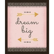 dream big framed wall art