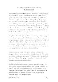unit blog essay for studio lighting techniques by chelsie brandrick page 1 unit 57 blog essay for studio lighting techniques by chelsie brandrick
