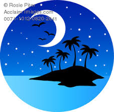 night clipart. Delighful Night Moon At Night Clipart 1 Intended