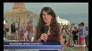 Studio Aperto inviata Eleonora Rossi Castelli da Cervia: è una giornata splendida si sta da dio