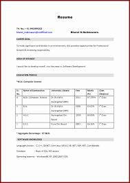 Mba Resume Format Resume Format For Mba Freshers Pdf Awesome Resume Freshers Mba 22