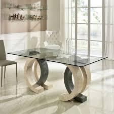 Glas Esstisch Tiber Mit Stein In Creme Grau Wohnende