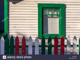Painted Fences house with wooden fences painted in the colors of the italian flag 7590 by xevi.us