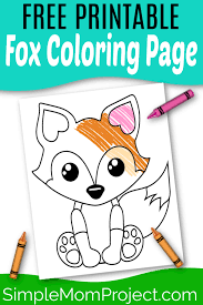What have others said about this? Free Printable Baby Fox Coloring Page Simple Mom Project