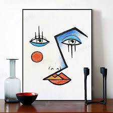 <b>Minimalist Modern Abstract</b> Face <b>Picasso</b> in 2019 | <b>Abstract</b> face art ...