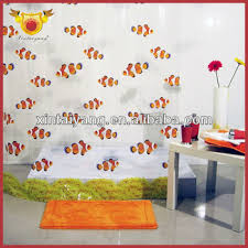 custom printed shower curtains fish design bathroom ds printed clear pvc shower curtain custom printed shower