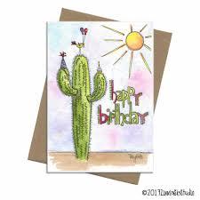 Card Bday Southwest Cactus Birthday Card
