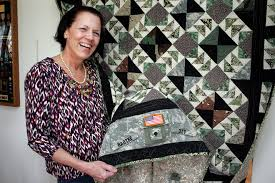 Military uniforms across decades go into gift of quilt &  Adamdwight.com