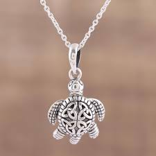 sterling silver celtic trinity knot turtle pendant necklace trinity turtle