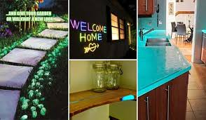 make a glow in the dark project for home decor