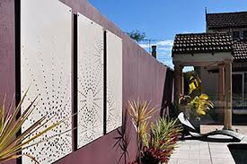 decorative privacy screen. cutout laser cut panels: roseville, new south wales \u2013 3mm thick powder coated mild decorative privacy screen c