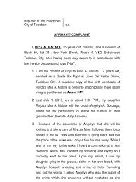 Complaint Affidavit Murder Docx Politics Government