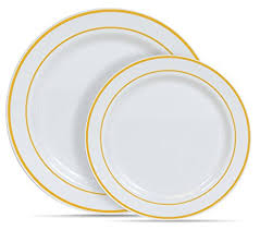 gold rimmed dinner plates. Delighful Gold U0026quotSelect Settingsu0026quot 60 COUNT White With Gold Rim Plastic  Disposable Plates In Rimmed Dinner R