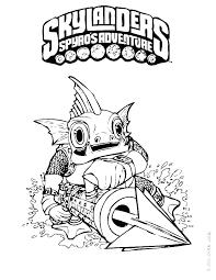 Coloring Pages Of Skylanders Academy Spyro Online Printable Color