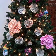 Paper Flower Christmas Tree Recycled Crafty Christmas Tree Harmini Asokumar