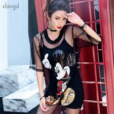 2019 Dangal <b>Women Two Piece Suits Mickey</b> Dress Sequin Mesh ...