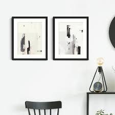 minimalist wall art set framed abstract