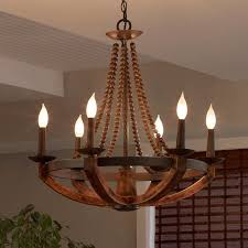 details about rustic iron burnished wood sculpted wood beads candelabra chandelier lightings