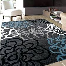 black and grey rug fl area rug contemporary modern flowers rugs 3 gray grey white blue black and grey rug