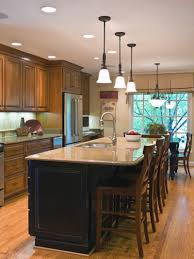 black kitchen island with bar cheap kitchen lighting ideas