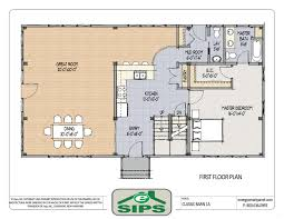 floor plan of a house with dimensions. Contemporary Dimensions Open Floor Plan Kitchen Dining Living Room Florida Style Home Plans 1 Level House  Three Dimensional Intended Of A With Dimensions