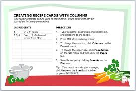 pages recipe card template banana bread apple