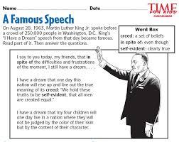 rhetorical analysis essay i have a dream speech