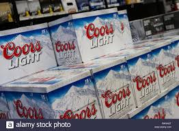 Case Coors Light Coors Light Beer Cases On Display At A Newly Opened Self