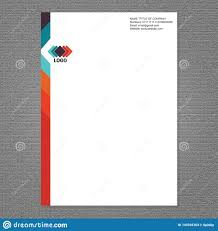 Business Pad Design Vector Letter Head And Logo Design Stock Vector Illustration Of