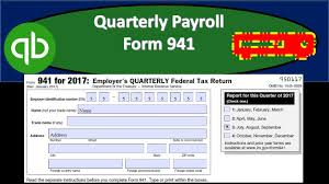 Payroll Forms Quarterly Payroll Form 941 Payroll Report Forms From Quickbooks