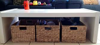coffee table with baskets under coffee table storage baskets rolling from up white coffee table with wicker baskets