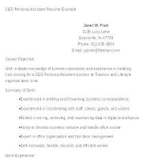 Personal Objectives Examples For Resumes Personal Assistant Career Objective Examples Resume Objectives For
