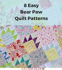 8 Easy Bear Paw Quilt Patterns | FaveQuilts.com & 8 Easy Bear Paw Quilt Patterns Adamdwight.com