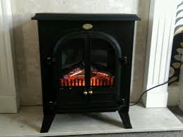 stove electric fire dimplex cast iron with very realistic glow and flame effect through real coals