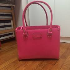Kate Spade Wesley Quinn Leather Bag (PINK), Luxury, Bags & Wallets on  Carousell