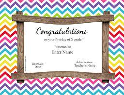 First Day Of School Certificate Reward Charts 4 Kids