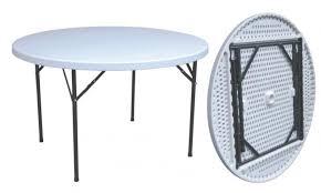 folding round table Ø hdpe 152 cm outdoor furniture picnic garden