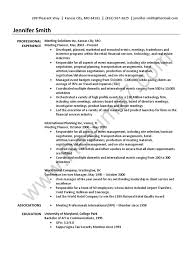 Event Planner Resume Sample Business Economies
