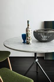 table contemporary glass slate doble  round carrara marble contract table officina carrara marble table mag