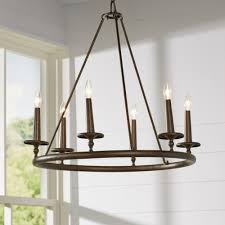 lighting pillar candle chandelier in stylish round